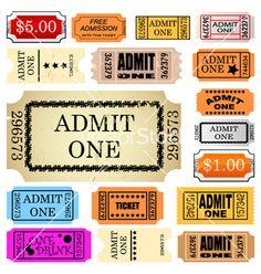 vintage movie ticket template