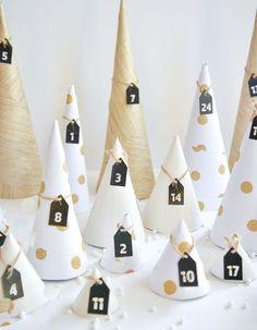 DIY Christmas: 25 do-it-yourself Advent calendars Nordic Christmas, Modern Christmas, 1st Christmas, Homemade Advent Calendars, Diy Advent Calendar, Countdown Calendar, 1 Advent, Advent Calenders, Diy Weihnachten