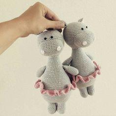 Littlehappycrochet crochet hippo