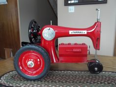 Antique tractor made from old singer sewing machine.