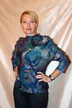 мастер-класс по валянию свитера-туники в технике нуно - Ярмарка Мастеров - ручная работа, handmade