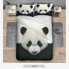 """Gorgeous panda bedding set, including the duvet cover and pillowcase covers. Make your bedroom a bit more """"panda""""!  100% cotton and great quality. Please see below for more specifications."""