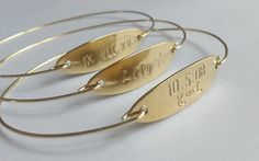 Personalized bangle  Name bracelet  Personalized by Cecileis