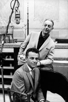 Composer Burton Lane and lyricist Alan Jay Lerner (Photo: Henri Dauman)