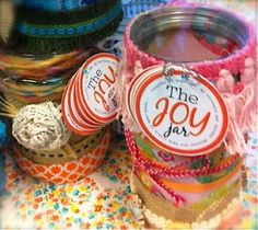 Great middle school girl project. How to make a Joy Jar to put their struggles in...then a couple of weeks later reflect how God used them to strengthen their faith. A good lesson for ALL of us!