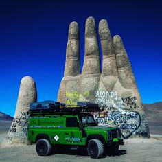 Kermit in AtacamaChile. #goodvibes #statue #monument #bluesky #landrover #landroverdefender #defender110 #land_rover #expedition #expeditionportal #green @canon_photos @land_rover_defender @landroverdefender110 @mylandy @landroverjava @landrover_zen @landroverusa @landrover_world @landroverphotoalbum @landroverofficial_  #travel #instagood #picoftheday by gwyn.goes.global Kermit in AtacamaChile. #goodvibes #statue #monument #bluesky #landrover #landroverdefender #defender110 #land_rover…