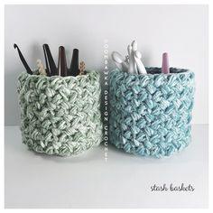 Stash Baskets Free Pattern Oombawka Design Crochet