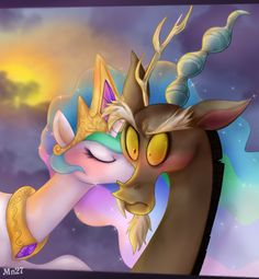 discord mlp | Discord and Celestia - My Little Pony Shipping Is Magic Fan Art ...