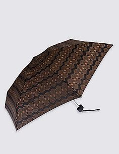 Decorative Geo Compact Umbrella with Stormwear™