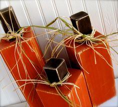 Set of 3 Primitive Wood Pumpkins Fall Wood by ThePoshPearShop, $34.95