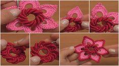 Irish Crochet Double Layered Flower - Tutorial