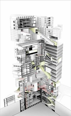 Interesting Find A Career In Architecture Ideas. Admirable Find A Career In Architecture Ideas. Architecture Graphics, Architecture Portfolio, Art And Architecture, Architecture Details, Tectonic Architecture, Sectional Perspective, Architectural Section, Architectural Drawings, Architectural Styles