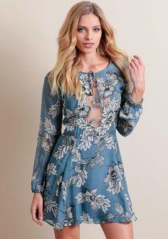 Sierra Mini Dress In Blue By For Love & Lemons