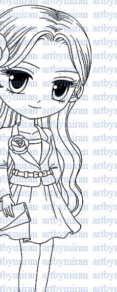Digital Stamp-Girl Friday Digi Stamp Coloring page by artbymiran