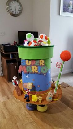 This is my super mario themed easter bonnet I made for my son.