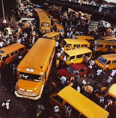 Lagos, Nigeria Traffic Jam. Public transport in Nigeria does, in fact, exist. Though, it's generally unsafe, unreliable and not recommended for expats.