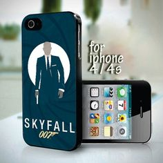 Skyfall James Bond 007 design for iPhone 4 or 4s case