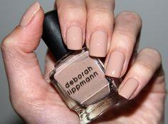 "Deborah Lippmann ""Naked"" beautiful nails :)  Naked looks great on you!"