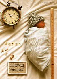 Birth announcement photo idea
