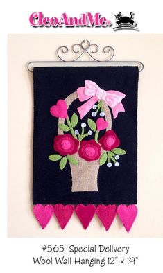 Special Delivery a wool wall hanging pattern by cleoandmepatterns, $8.50