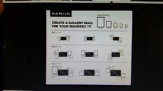 Mounted TV wall gallary