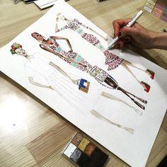#redcarpet #tapisrouge #sketching #lady #figurinedemode