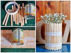 diy and creatividad 圖片 – DIY Home Decor Popsicle Stick Crafts, Popsicle Sticks, Craft Stick Crafts, Diy Home Crafts, Crafts For Kids, Diy Para A Casa, Diy Art, Diy Room Decor, Home Decor