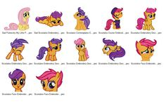 Package 12 My Little Pony 08 Embroidery Designs  This listing is for a digital file to be embroidered. You will need an embroidery machine to