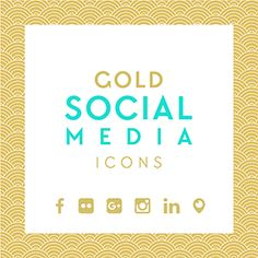 Free Download: Gold leaf social media icons - 2 sets! Get this and more free goodies at www.DesignYourOwnBlog.com/