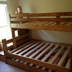 ... Bunk Beds on Pinterest | Under Bed Drawers, Solid Wood and Loft Beds