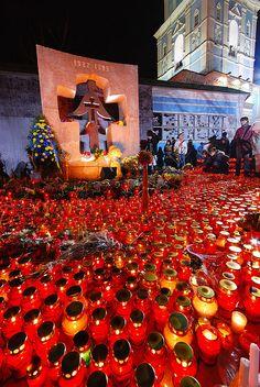 Memorial for the Holodomor - the genocide of 10 million Ukrainians - Kyiv.