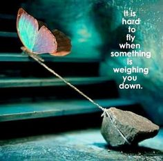 It's hard to fly when something is weighing you down #FORGIVE