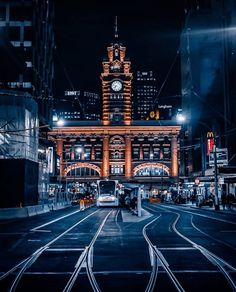 Flinders Street Station from Elizabeth Street, Melbourne Places In Melbourne, Melbourne Girl, Melbourne Street, Melbourne Victoria, Victoria Australia, Melbourne Australia, Australia Photos, Perth, Brisbane