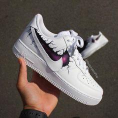 "Custom Air Force 1 of the Week: ""Strange Galaxy AF1"" Cute Nike Shoes, Cute Nikes, Sneakers Fashion, Fashion Shoes, Shoes Sneakers, Fashion Outfits, Fashion Fashion, Runway Fashion, Fashion Trends"