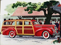 1941 Packard Station Wagon - nothing finer for hauling groceries, sporting equipment, and everything else, to the  lodge, the home, or to work than a big Woodie Wagon made by a great car company. Packard Woodies were tops in the field.