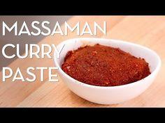 Massaman Curry Paste Recipe พริกแกงมัสมั่น - Hot Thai Kitchen! - YouTube