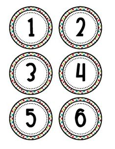 Here's a set of number circles from Another good one for floor numbers. Classroom Labels, Classroom Freebies, Math Classroom, Classroom Organization, Organization Ideas, Math Bingo, Fun Math, Preschool Body Theme, Number Flashcards