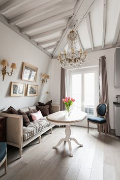 """Parisian studio apartment remodel! Click through to see the """"after"""" pictures! - Paris Perfect Blog"""