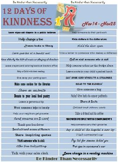 Random Acts of Kindness - great ideas, many easy with young kids.