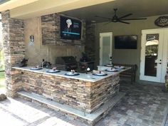 14 Best Outdoor Kitchen and Grill Ideas for Summer Backyard Barbeque Outdoor Kitchen Patio, Outdoor Kitchen Design, Outdoor Spaces, Outdoor Living, Outdoor Countertop, Small Outdoor Kitchens, Outdoor Cooking Area, Outdoor Kitchen Cabinets, Outdoor Entertaining