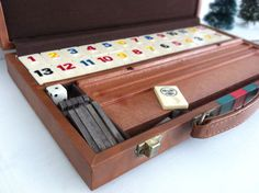 Retro RummyQ Rummikub Game Set in Red & Green by scroungebird, $16.50