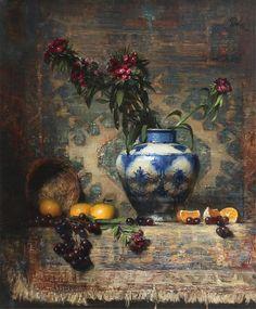 David A. Leffel, Sweet William and Oranges, 1986