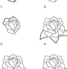 how to draw a rose step by step easy google search draw drawings easy drawings art drawings. Black Bedroom Furniture Sets. Home Design Ideas