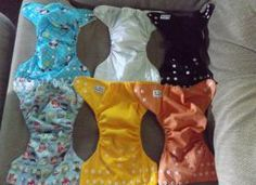 6 Alva pocket diapers for sale. All are in excellent used condition. Somewhere never even used some were just used as a back up night time diaper when I would run out of my other ones. Each comes with one insert. $4/ea $5 shipping
