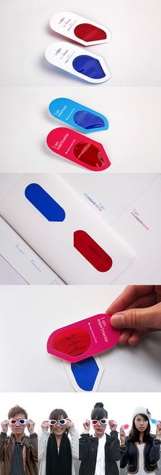 3D Glasses Business Card