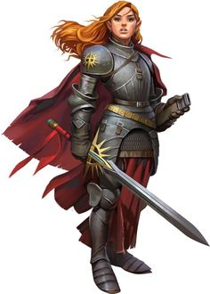 d&d female paladin - Google Search