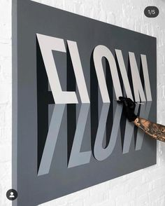 Toronto-based graphic designer and letterer Ben Johnston produces massive lettering artworks often playing with layering, perspective and three-dimensional effects. More lettering artworks Visit his website Wayfinding Signage, Signage Design, Retail Signage, Environmental Graphics, Environmental Design, Typographie Inspiration, Displays, Hand Drawn Type, Wall Design