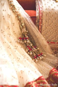 A bride gets ready for her traditional Indian wedding ceremony.