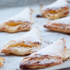 Ricotta Turnovers (Fazzoletti Dolci). I would leave out the splash of rum and sub in some sort of fruit.