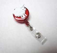 Sheep Retractable ID Badge Reel Farm Animal by sweetie2sweetie